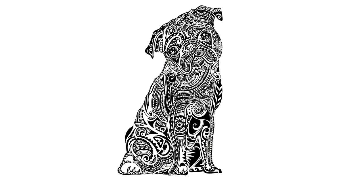 get the coloring page pug free colouring pages for adults popsugar australia smart living photo 2