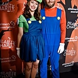 Seth Rogen and Lauren Miller as Mario and Luigi