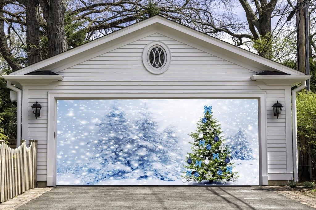 Full Color Christmas Garage Door Mural
