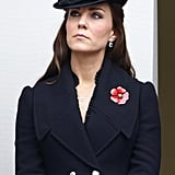 She Looked Somber in Alexander McQueen During Remembrance Sunday Service