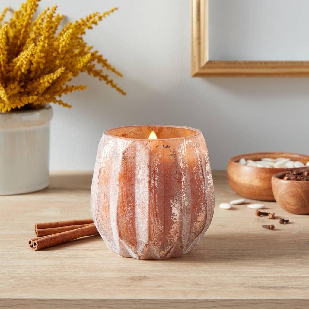 Pumpkin Spice Acorn Glass Jar Candle