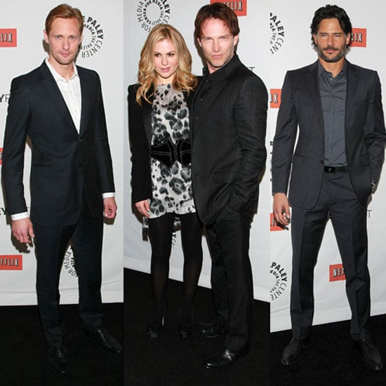 Pictures of Anna Paquin, Stephen Moyer, Ryan Kwanten, Alexander Skarsgard, and Joe Manganiello Talking True Blood