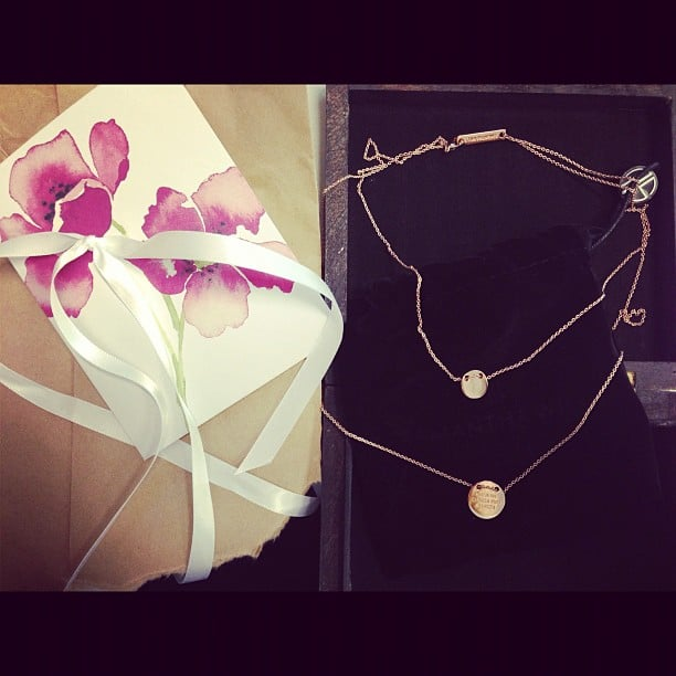 It was Ali's birthday this week — and the lucky duck was sent a beautiful Samantha Wills necklace by the lady herself!