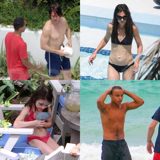 Katie Holmes Bikini Pictures With Shirtless Tom Cruise