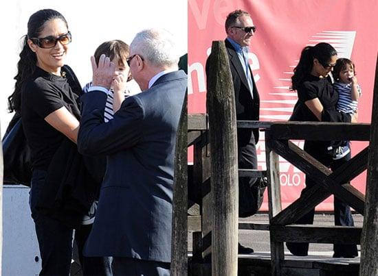 Photos of Salma Hayek, Francois-Henri Pinault and Valentina Pinault Ahead of Their Wedding in Milan