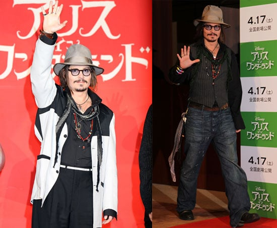 Photos of Johnny Depp And Tim Burton Promoting Alice in Wonderland in Japan 2010-03-22 10:30:00