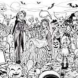 Get the coloring page: zombies