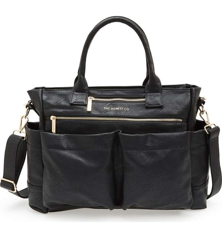 The Honest Company Infant 'Everything' Faux Leather Diaper Bag