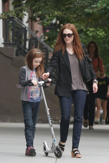 julianne Moore and daughter Liv Helen  stroll around New York