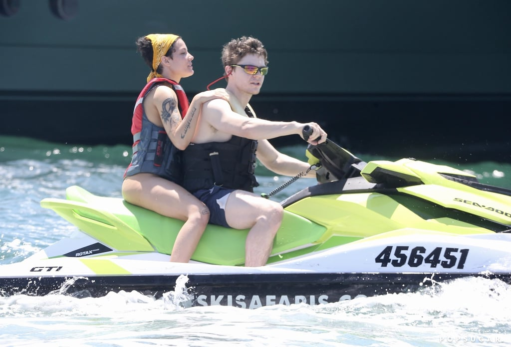 Halsey and Evan Peters kicked off the new year with a relaxing boat day. On Friday, the couple was spotted riding jet skis in the Gold Coast of Australia. The 32-year-old actor ditched his shirt and rocked navy swim trunks, while the 25-year-old singer slipped into a sexy floral bikini.  Halsey and Evan were first rumored to be dating in September 2019 when they were photographed on a smiley date at Six Flags, but it wasn't until the following month that they confirmed the reports at a Halloween party. Since then, the two have not been shy about showing off their newfound romance. We wonder if Evan inspired any songs on Halsey's upcoming Manic album? Guess we'll find out when it drops on Jan. 17.       Related:                                                                                                           16 Halsey Covers That Prove She Can Sing Just About Anything