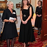 Duchess Cambridge Black Preen Dress at Place2Be Awards 2016