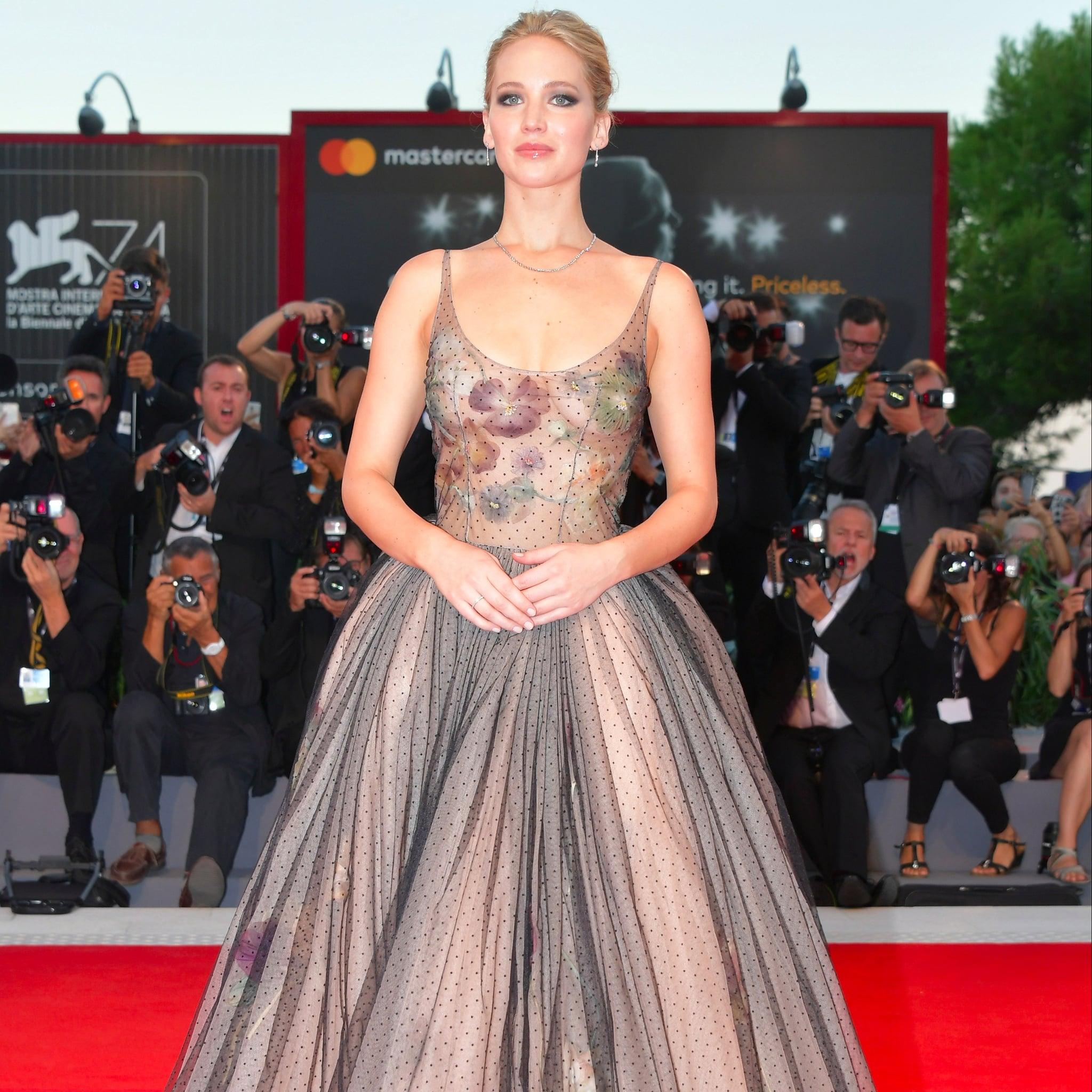 Jennifer Lawrence Dior Gown at Venice Film Festival   POPSUGAR ...