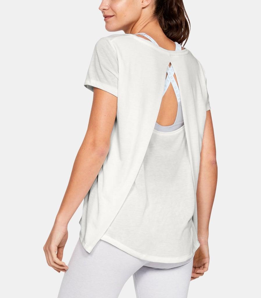 UA Whisperlight Short Sleeve Foldover Shirt