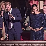 January: Meghan and Harry got dolled up for the Cirque du Soleil premiere in London, and indulged in some sweet, sneaky PDA.