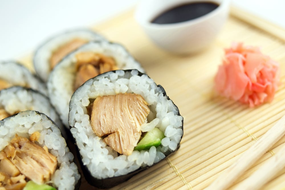 Chicken Teriyaki And Avocado Sushi Roll Calories In Sushi