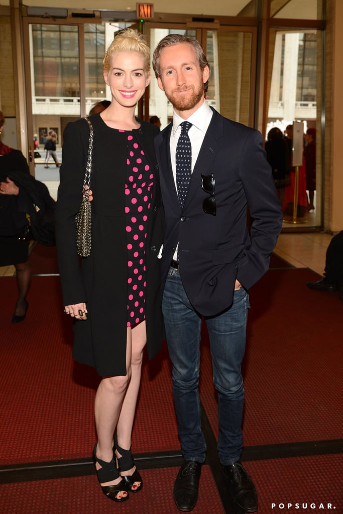 Anne Hathaway and Adam Shulman celebrated An Evening Celebrating Lincoln Center.