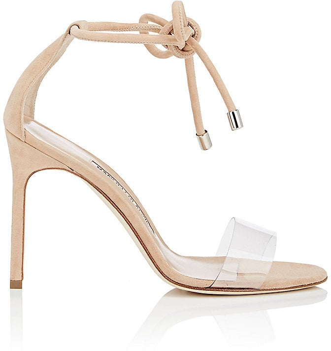 free shipping Manolo Blahnik Suede PVC Sandals cheap price for sale for sale very cheap 6HFHMcTs