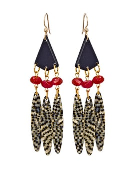 """I'm on the hunt for tribal-inspired jewelry that still has a polish to it. These are perfect for music festival season."" — Marisa Tom, associate editor  Bellissima Tribal Drop Earrings ($50)"