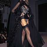 Heidi in a covered-up, sexy look in 1997.