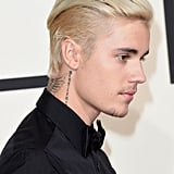 Justin Bieber at the 2016 Grammy Awards