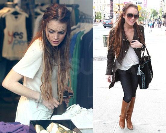 Photos of Lindsay Lohan Shopping With Cody Lohan