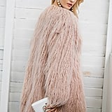Simplee Winter Faux Fur Coat