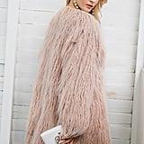 Simplee Winter Faux Fur Coat