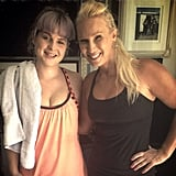 How cute does Kelly Osbourne look after taking her first Piloxing class? That's the founder of Piloxing to her right.