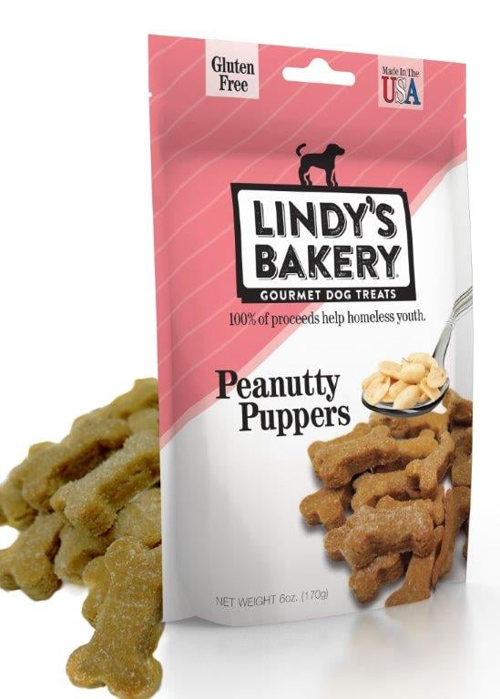 """Your dog will flip for these Peanutty Puppers treats ($7). These treats are completely grain free, but the best part about the product is the company behind it. The brand was created by Daybreak, which is a nonprofit organization that provides emergency shelter, outreach programs, transitional housing, and other vital services to Dayton, OH, homeless and transient youth populations, and 100 percent of proceeds go directly to the shelter."" — HP"