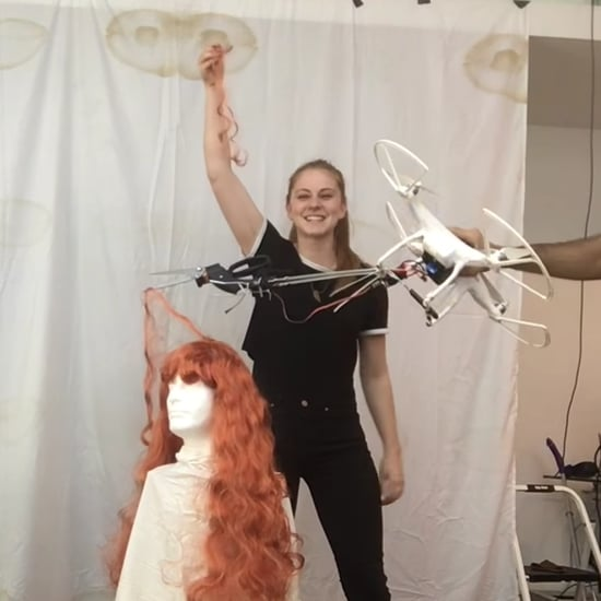1 Woman Attempts to Cut Hair Using a Drone