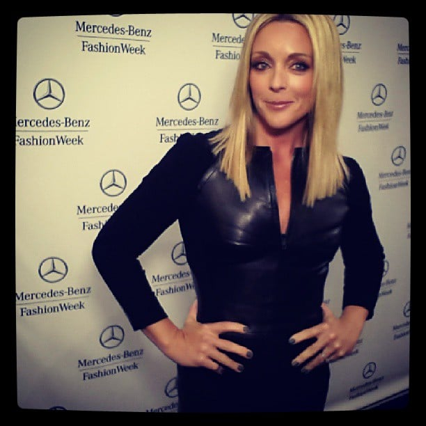 Jane Krakowski wore a black number. Source: Instagram user mbfashionweek