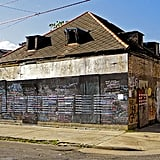 "The original New Orleans ""Before I Die"" was posted on the side of an abandoned house.  Photo courtesy of CandyChang.com"