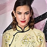 Bold: Alexa Chung But add a classic red lip — paired with vintage waves — and she's a whole new Alexa!