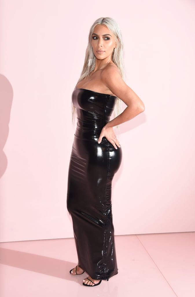 Kim Kardashian Wearing Tom Ford Dress at Fashion Week ...
