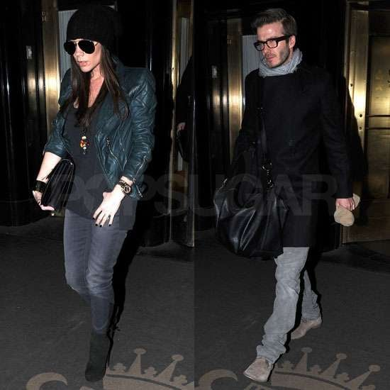 Pictures of Pregnant Victoria Beckham and David Beckham in NYC