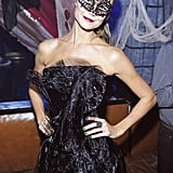 Stacy Keibler hosted a masquerade ball in Las Vegas in 2012.