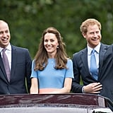 William, Kate, and Harry also attended every event relating to the queen's 90th birthday. Back in 2012, they attended three of her official Diamond Jubilee celebrations, but this year they were there for the horse show, the church service, Trooping the Colour, and the Patron's Lunch.