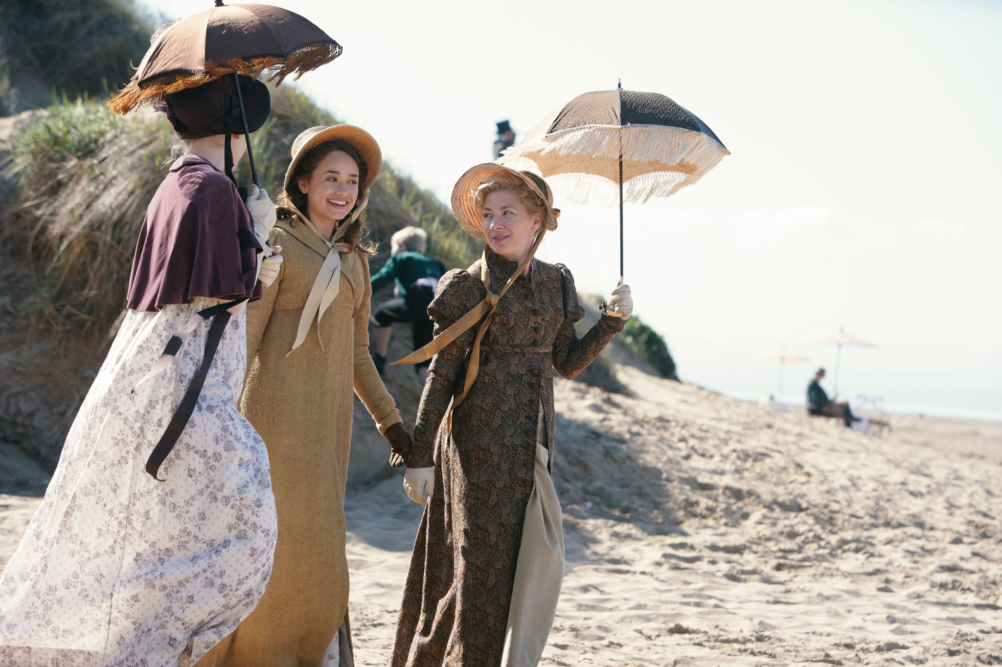 SANDITON, from left: Lily Sacofsky, Rose Williams, Kate Ashfield, (Season 1, ep. 101, aired in the US on Jan. 12, 2020/aired in the UK on Aug. 25, 2019). photo: Simon Ridgway / PBS/Red Planet Pictures / courtesy: Everett Collection