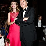 Taking in the sights of Love Ball, Natalia Vodianova and Mario Testino were all smiles.