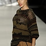 Alessandra Ambrosio walked in Sao Paulo Fashion Week.