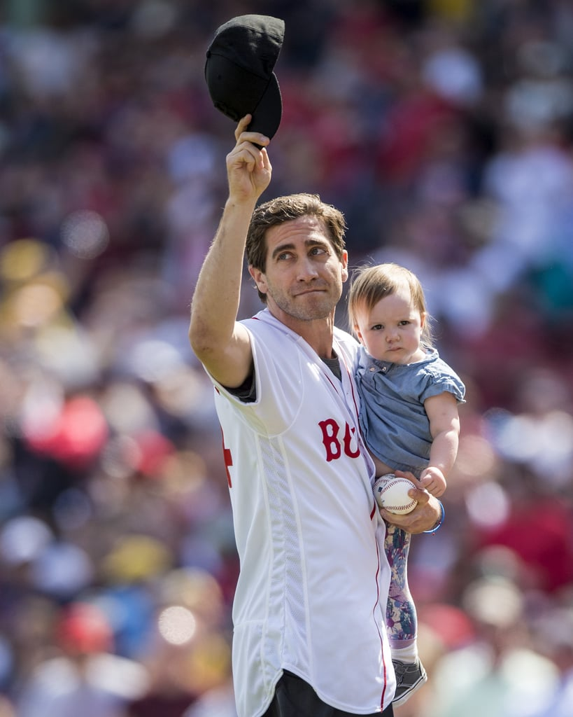 Jake Gyllenhaal at Red Sox Game April 2016