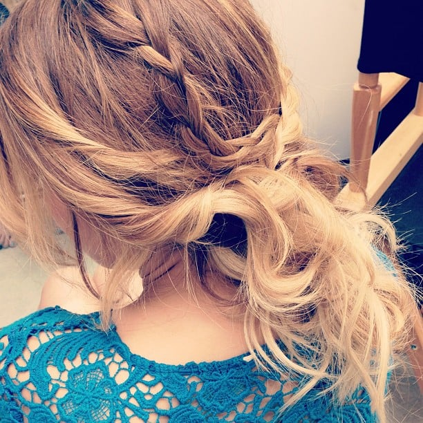Leave it to Lauren Conrad to come up with a lust-worthy braid and chignon combo. Source: Instagram user laurenconrad