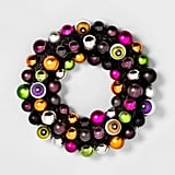 Light-Up LED Eyeball Halloween Decorative Wreath