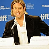 Brad Pitt held the entire room's attention.