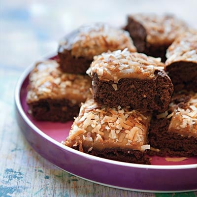 Caramel Coconut Fudge Brownie Recipe