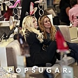 Jessica Simpson chatted with friend Cacee Cobb while shopping.