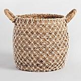 Large Macrame Seagrass Bianca Tote Basket