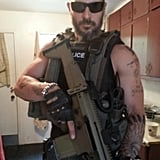 Joe Manganiello showed off his tough look for Ten. Source: Twitter user joemanganiello