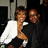 Whitney and Bobby Brown stayed close during a 2004 event in LA.