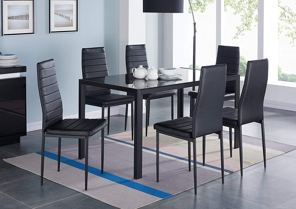 IDS Modern Glass Dining Table Set